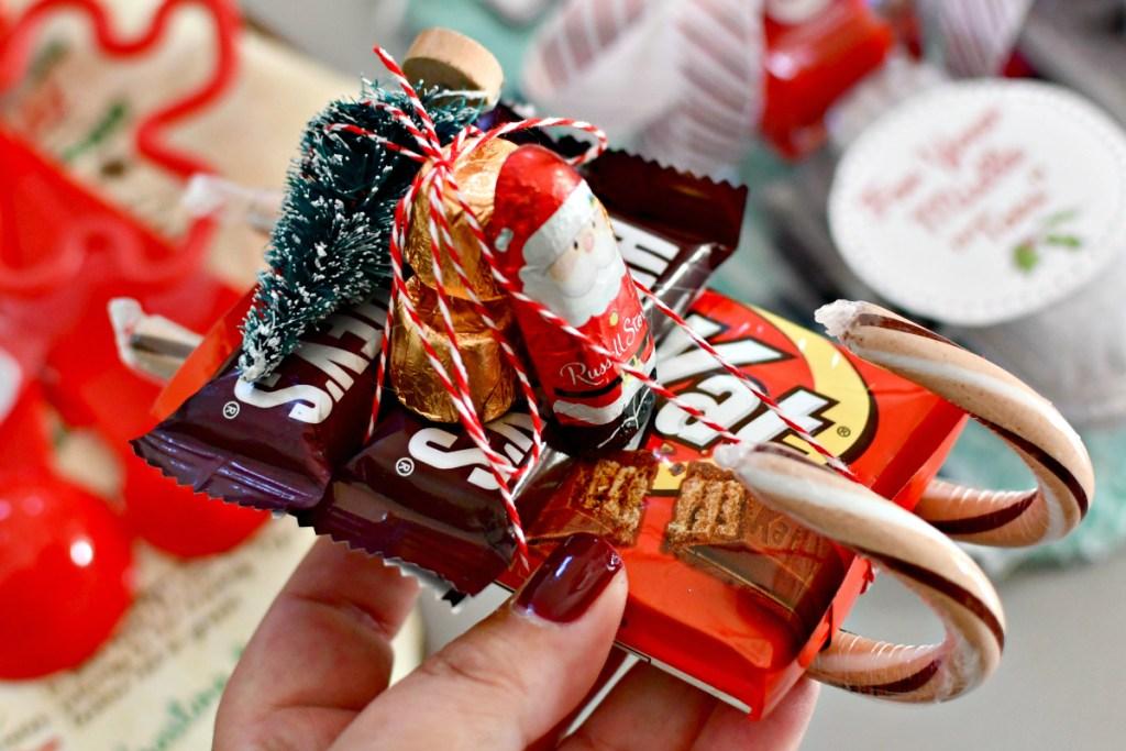 santa sleigh in candy