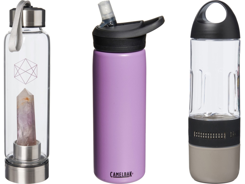 three water bottles from sierra