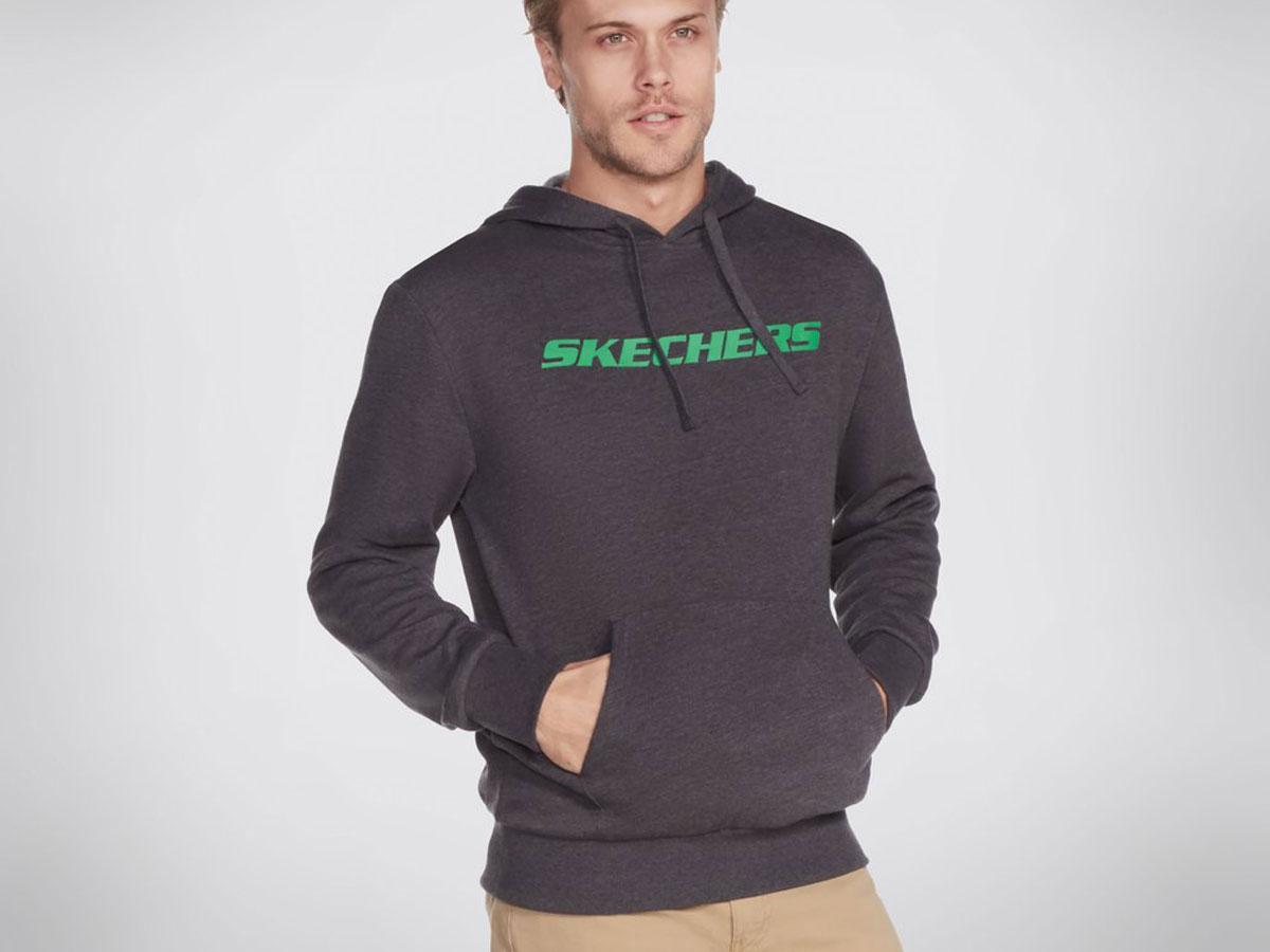 skecher's mens sweathshirt worn by model