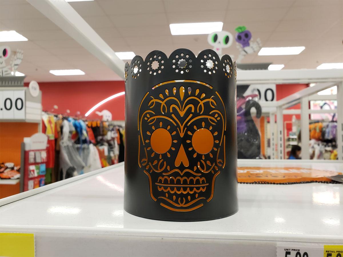 Skull candle holder at Target