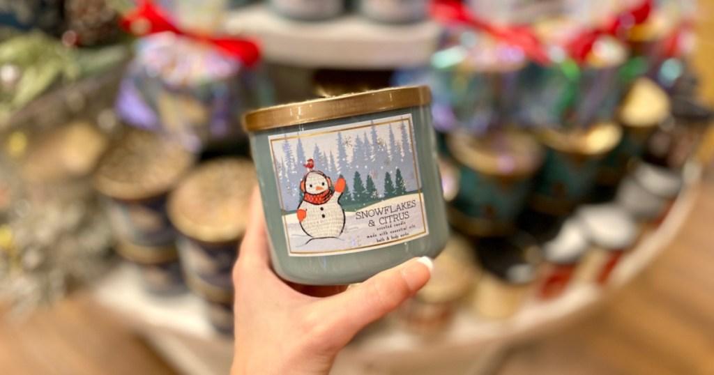 snowflakes & citrus candle