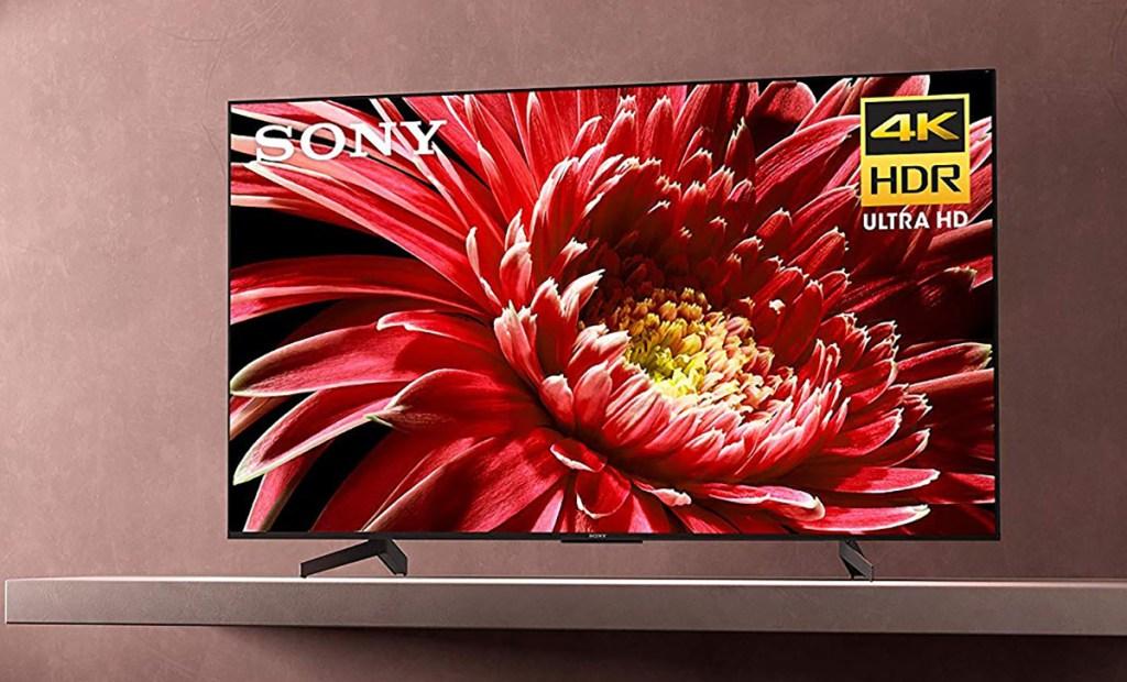 Sony 4K TV in living room