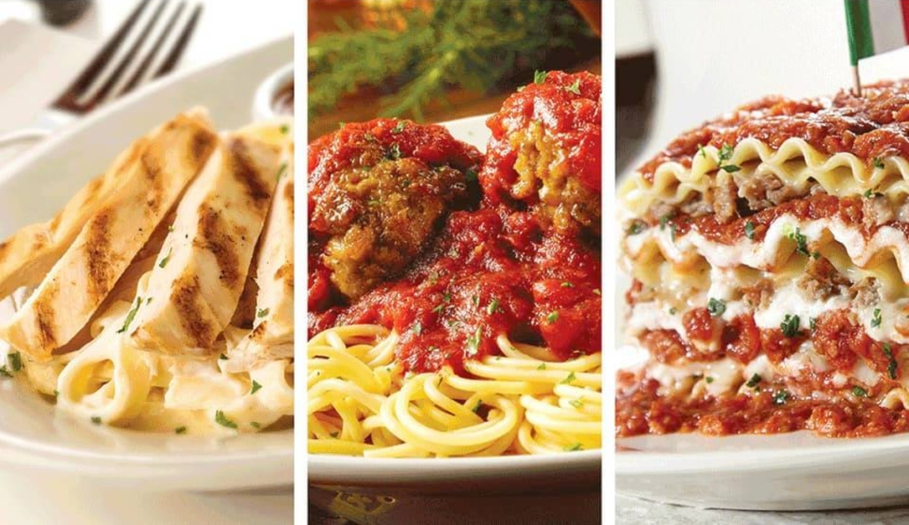 Spaghetti Warehouse Veterans Day entrees
