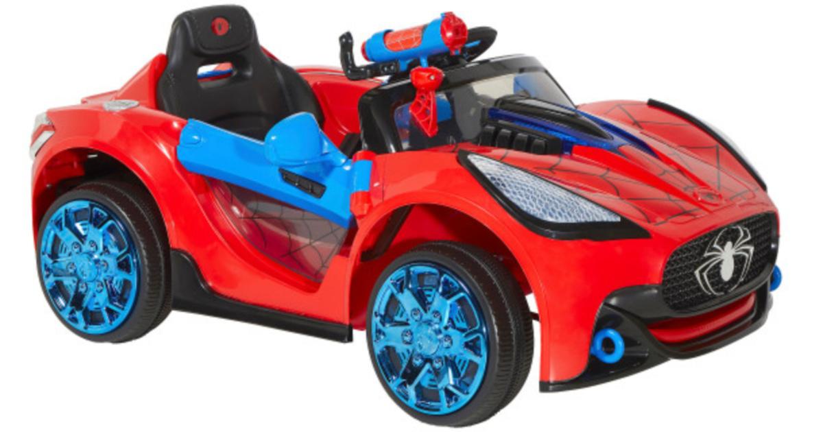 spiderman ride on car