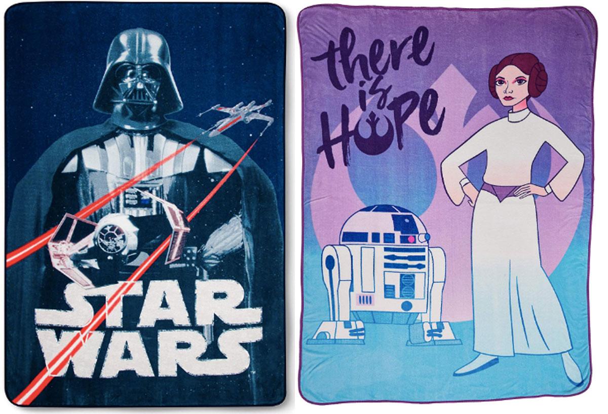 Jay Franco Star Wars Classic Vintage Logo Blanket, Blue