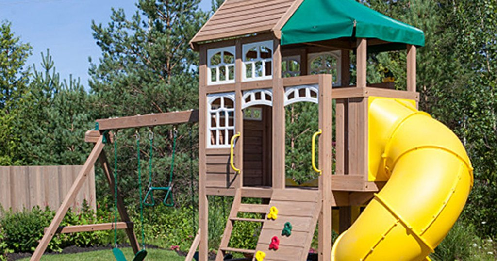 Up To 40 Off Kidkraft Wooden Swing Sets At Zulily