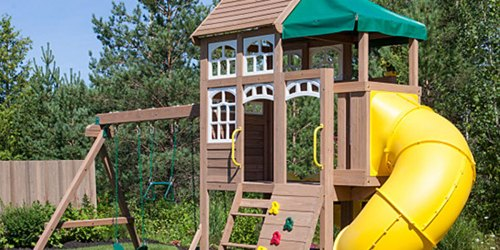 Up to 40% Off KidKraft Wooden Swing Sets at Zulily