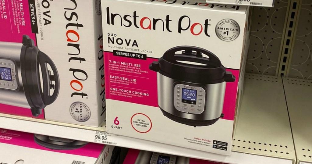instant pot duo nova pressure cooker at target