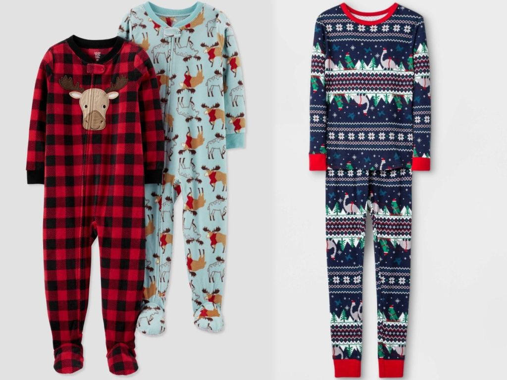 toddler-boys-2pk-buffalo-check-moose-fleece-footed-pajama-just-one-you-made-by-carter-s-red-tea