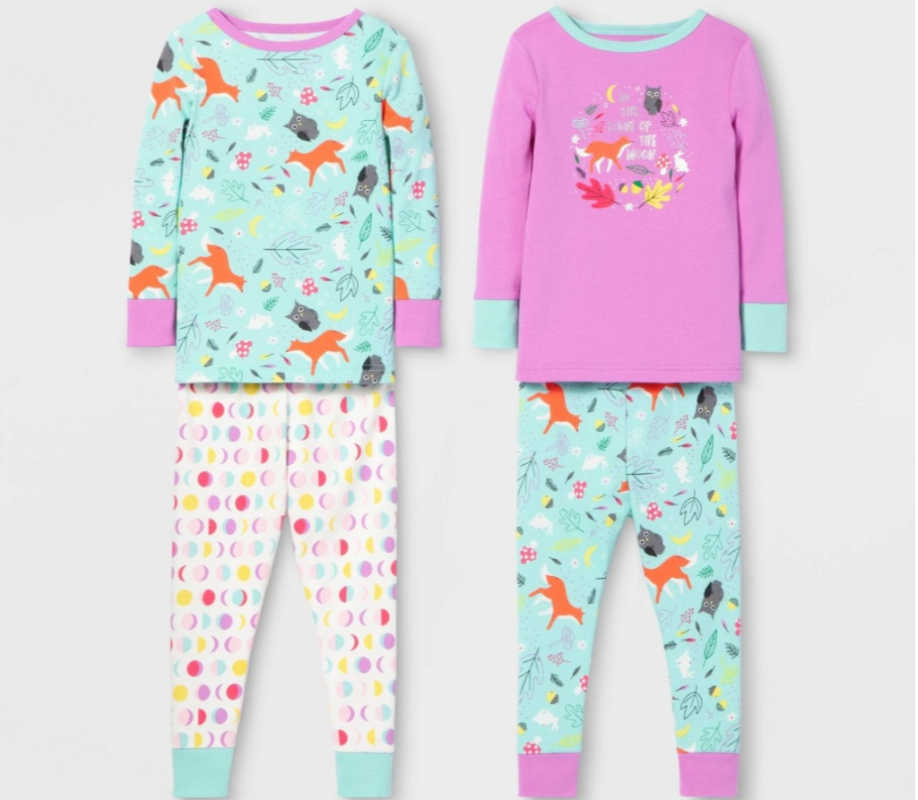toddler-girls-4pc-fox-pajama-set-cat-jack-153-violet-blue