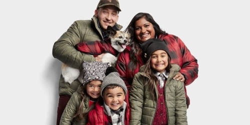 Target Is Selling Matching Puffer Jackets for Your Whole Family (Including Pets!)