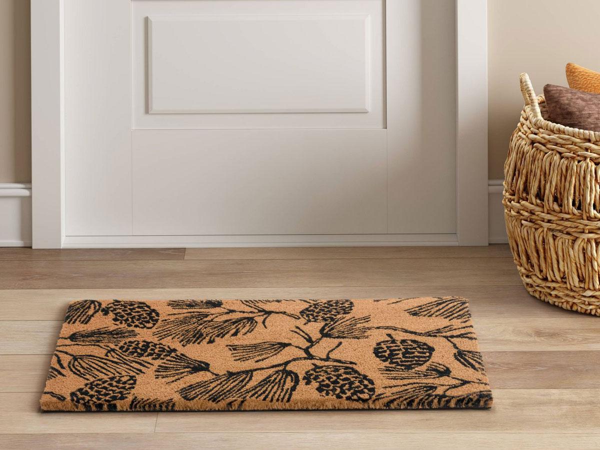 """Threshold 18""""X30"""" Pine Coir Inline Doormat Tan/Black Rug"""