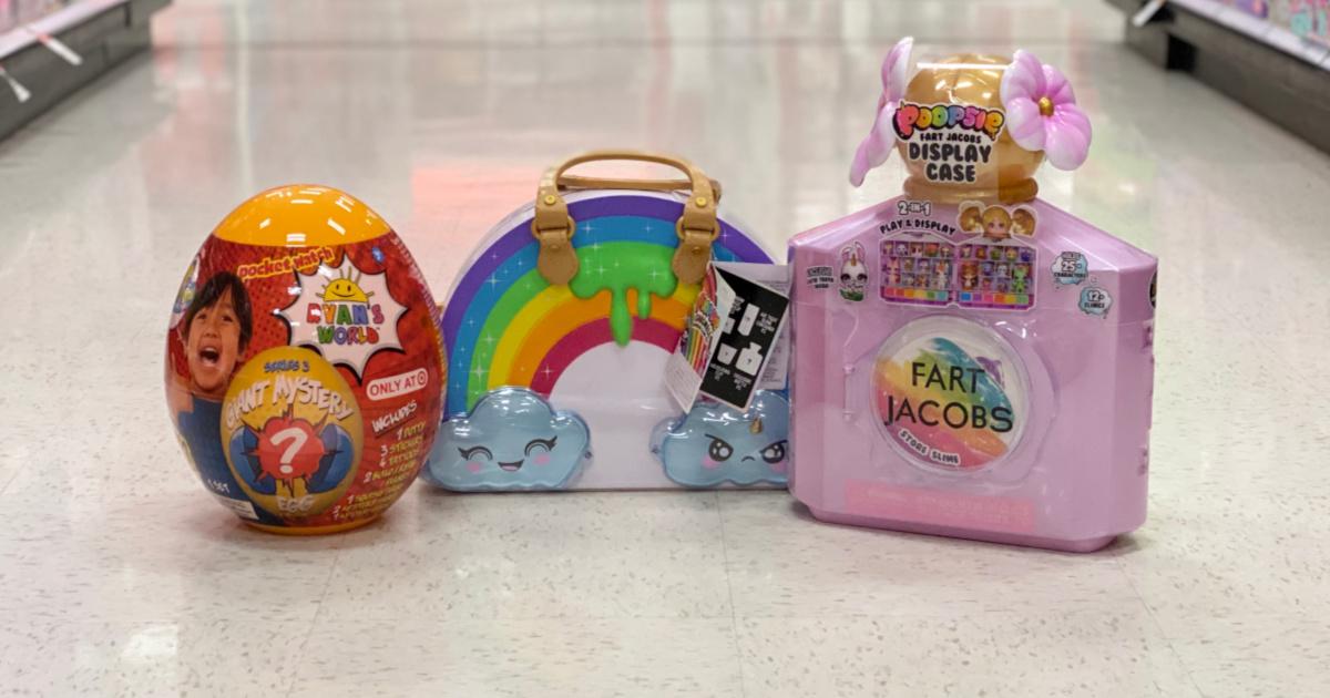 poopsie slime, poopsie fart jacobs and ryans world toys on target floor
