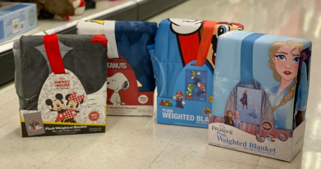 kids' character weighted blankets at target