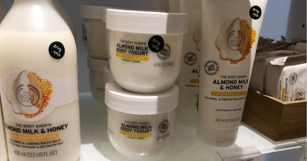 containers of body yogurt at the body shop