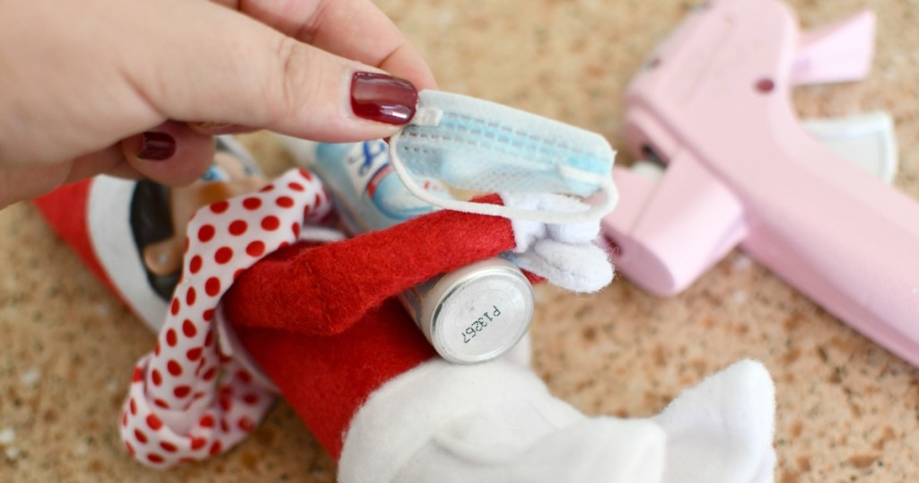 tiny mask for an elf on the shelf
