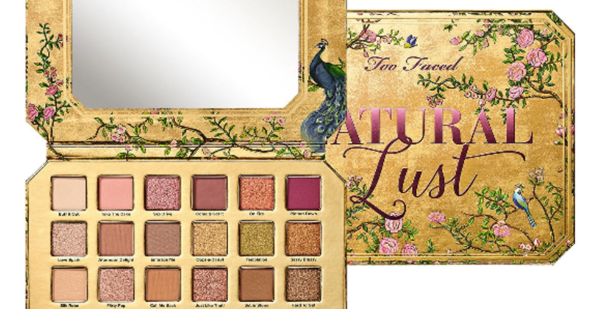 TOO FACED Natural Lust Palette stock image