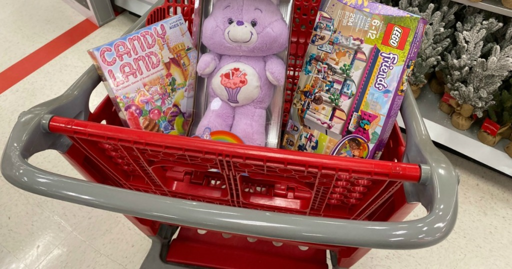 cart full of toys