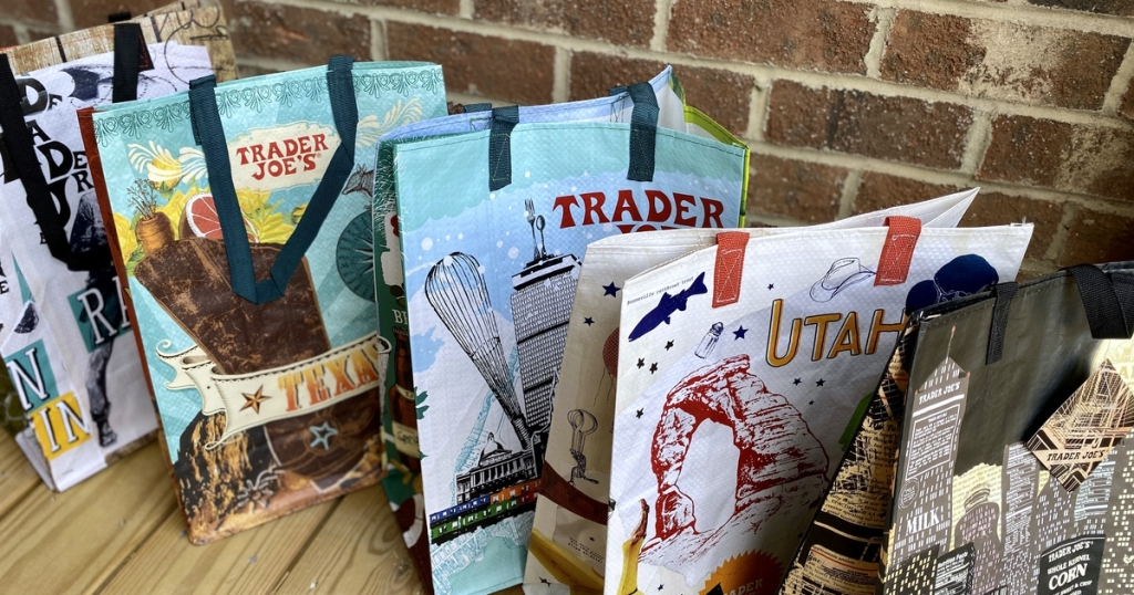 reusable shopping bags from Trader Joe's