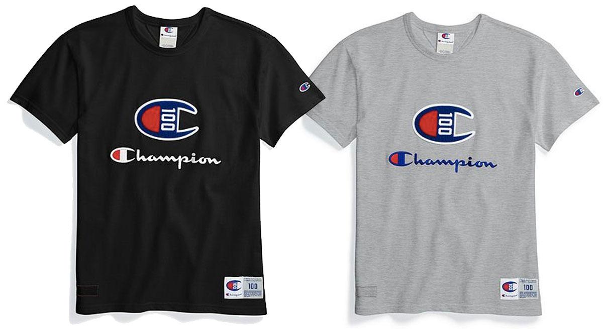 champion logo women's tshirts