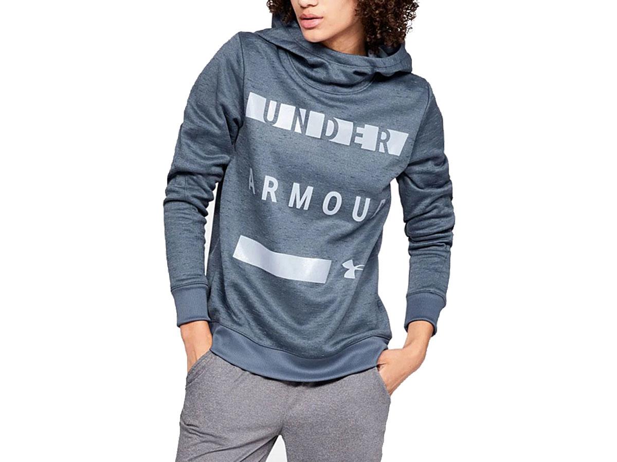 Under Armour Women's Utility Blue Metallic 'Under Armour' Fleece Hoodie