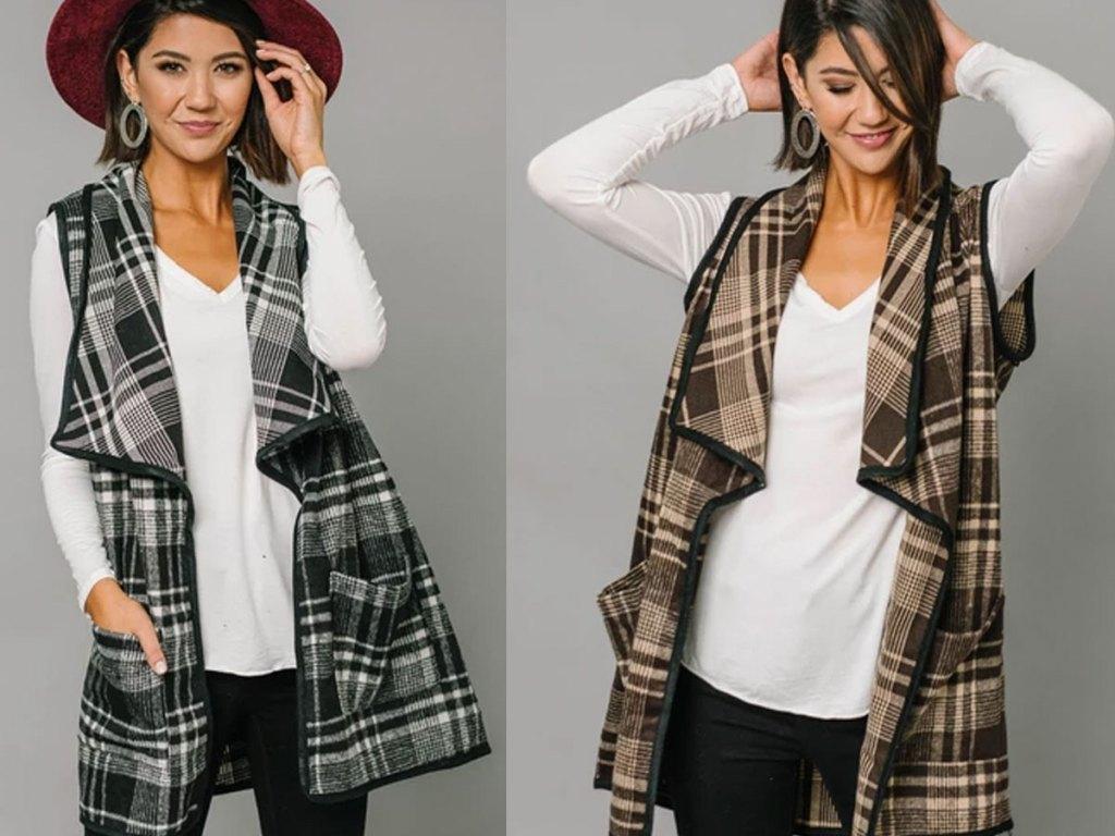 cents of style rue plaid vest