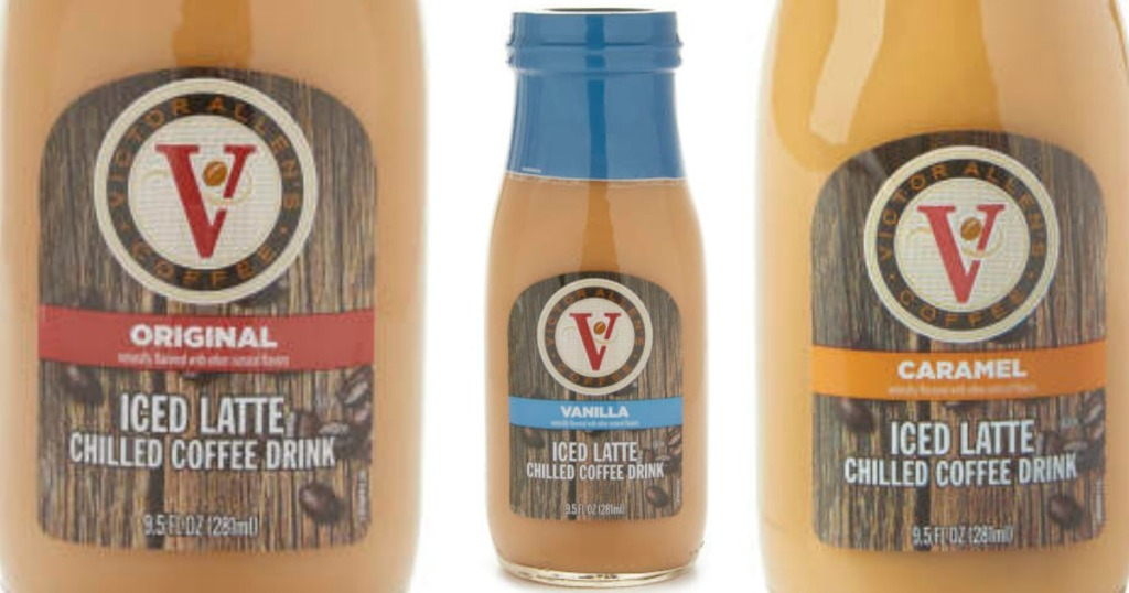 several bottles of iced coffee flavors