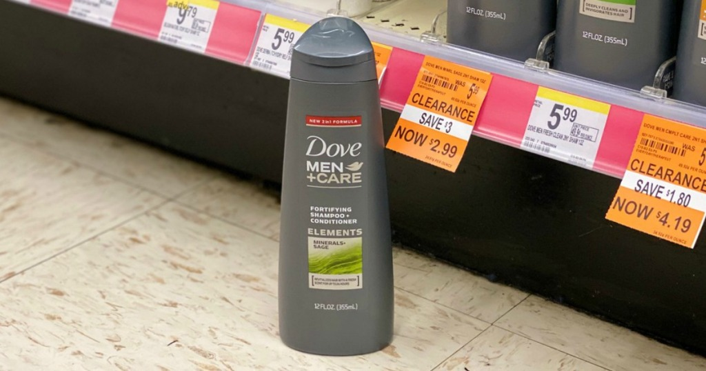 dove men + care shampoo on clearance at walgreens
