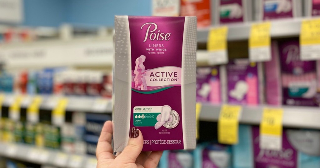 poise active collection pads at target
