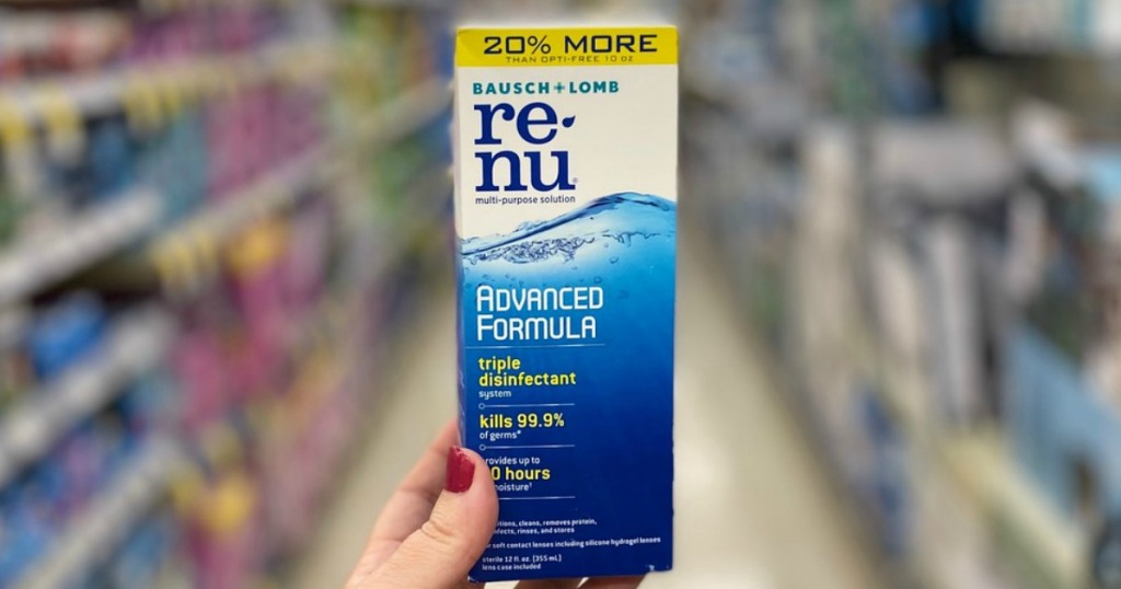 renu contact lens solution at walgreens
