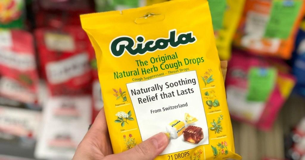 ricola cough drops at walgreens