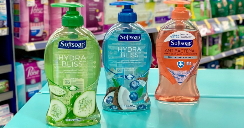 softsoap hand soap on a shelf in store
