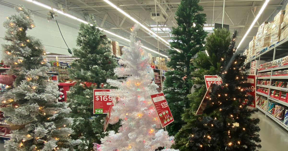 6.5' Pre lit Holiday Time Madison Christmas trees