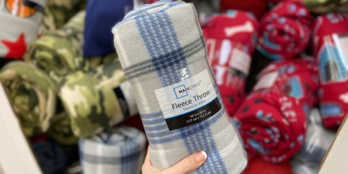 Mainstays Fleece Throws Only $2.50 at Walmart | Great for Kids, Seniors Or Donations