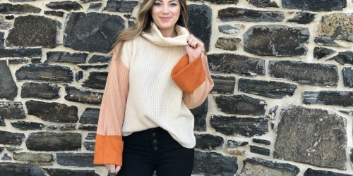 Is this Popular Amazon Color Block Sweater Better than Pumpkin Spice?