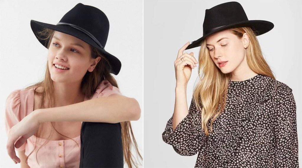 Women wearing felt hats