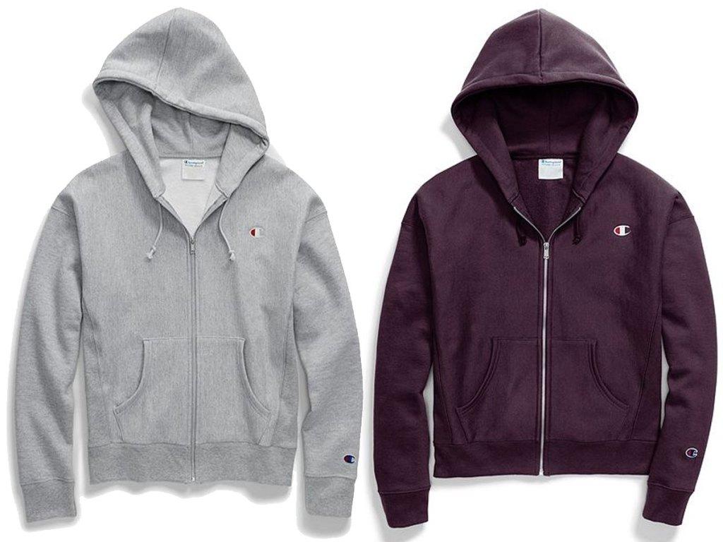champion women's hoodies zipper