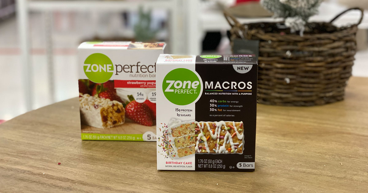 zone perfect macros and regular on table in target