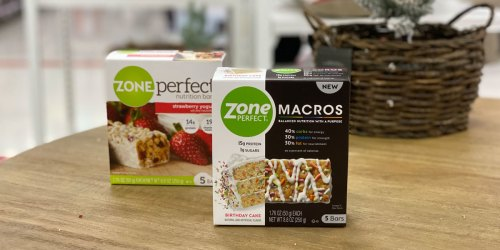 ZonePerfect Macros Bars 5-Count Just $1.84 Each After Cash Back at Target (Regularly $7)
