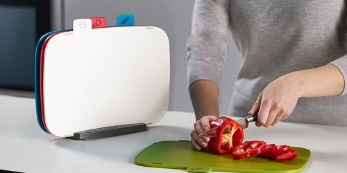Joseph Joseph 5-Piece Cutting Board Set Just $16.99 at Zulily | Color Coded Boards