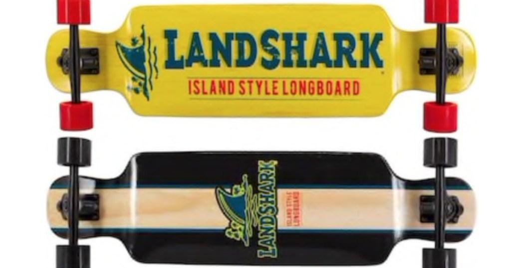 Margaritaville Land Shark Classic Long Board Skateboard