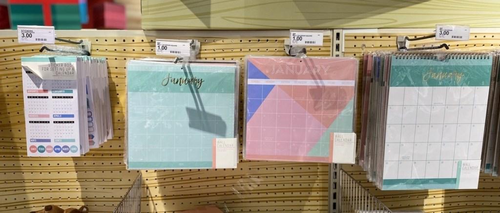 Small Wall Calendars on display at Target
