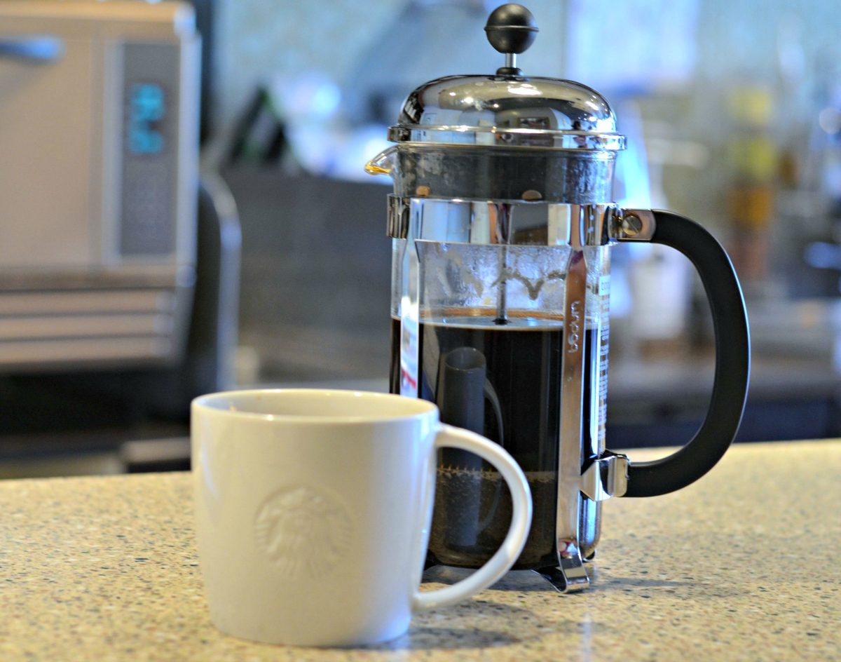 24 oz Starbucks French press coffee