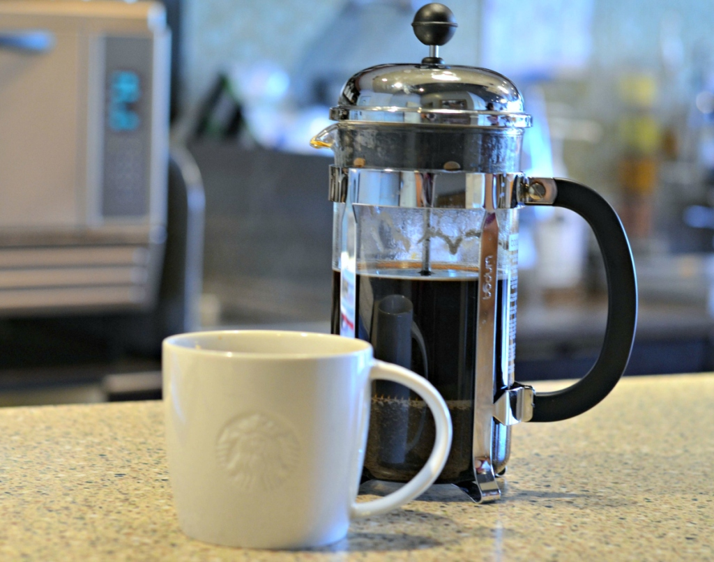 24 oz Starbucks French press coffee