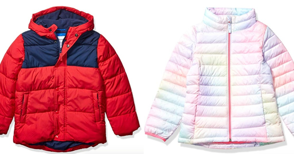 Boys and Girls Amazon Essential Puffer Jackets