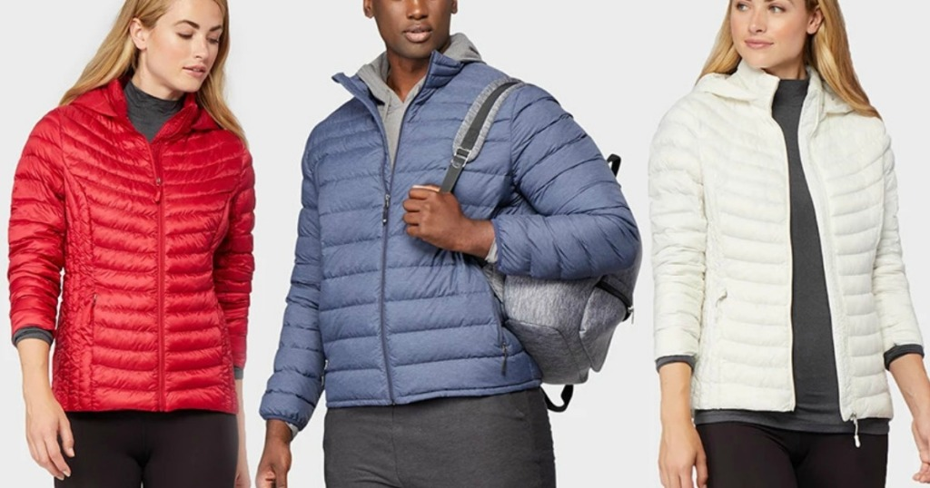 Three styles of 32Degrees Down Jacket