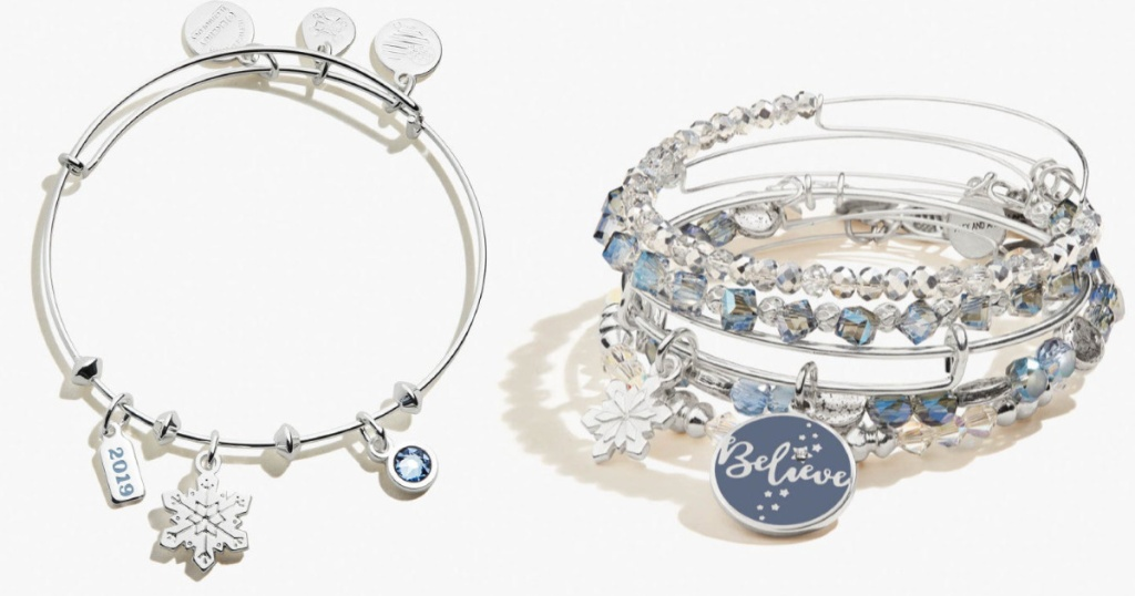 Alex and Ani Silver Holiday Bangles