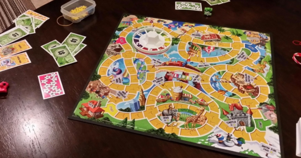 Game of Life Junior on kitchen table