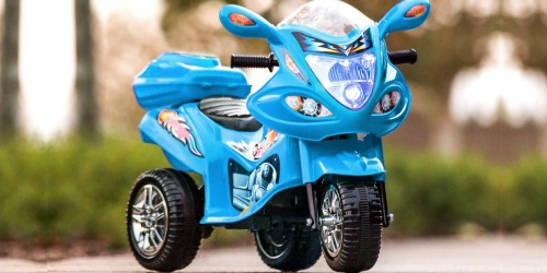 6V 3-Wheel Motorcycle Ride-On Toy Only $43.99 Shipped | Five Color Choices