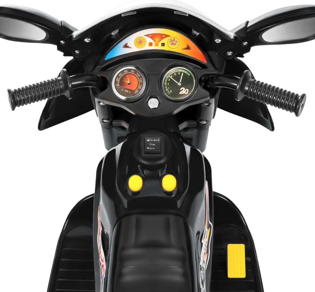 Kids motorcycle in black